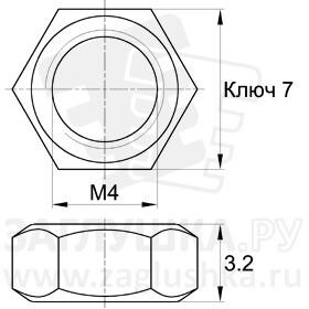 DIN934-М4
