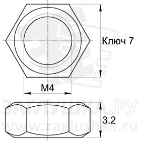 DIN934-M4